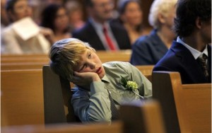 Being bored in church is an all-too-common phenomenon.