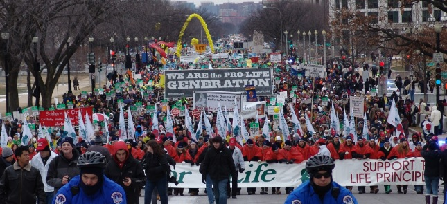 "The ""Pro Life March"" is by far the most actively attended and supported advocacy initiative for the American Catholic Church"