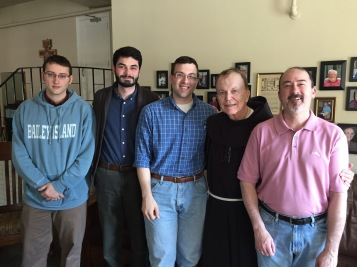 A few of the guys with Fr. Kevin Mackin