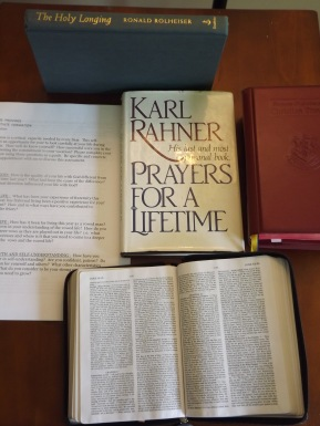 A Bible, breviary, and a few spiritual books are all I'm taking.