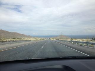 As we crossed the mountain, it looked like we were descending into the ocean