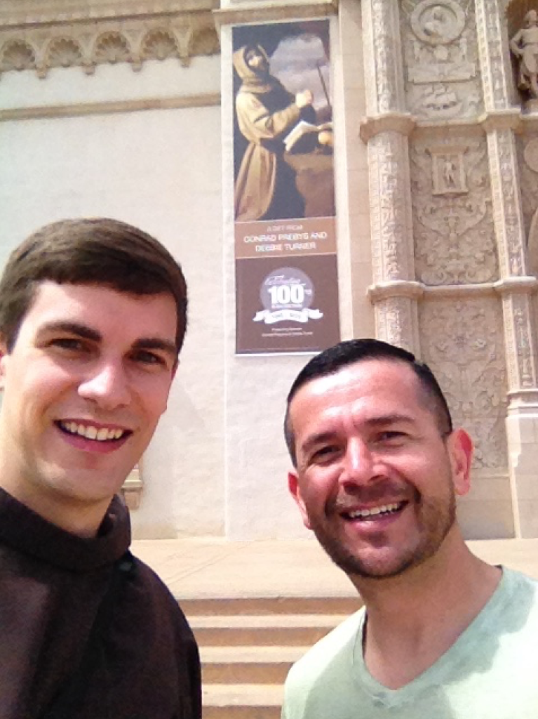 Two Franciscan friars in real life!