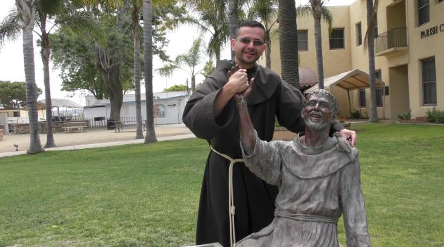 Edgardo having a little fun with Francis