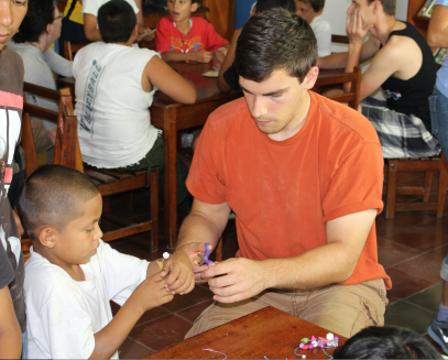 While yes, there are experiences further from my comfort zone than making bead necklaces with a tiny child that doesn't speak English, the problem was that I focused on my struggle and not on the boy in front of me. Such is the experience of a first time missionary.